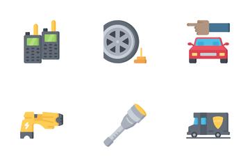 Law Enforcement - Flat Icon Pack