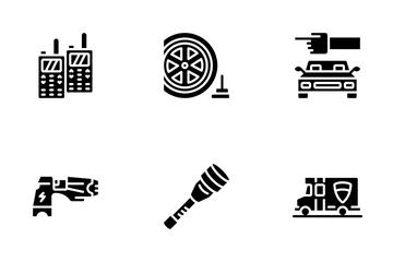 Law Enforcement - Glyph Icon Pack