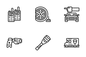 Law Enforcement - Outline Icon Pack