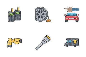 Law Enforcement - Sketchy Icon Pack