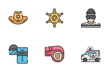 Law Enforcement - Soft Fill Icon Pack