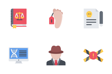 Law Flat Icon Pack