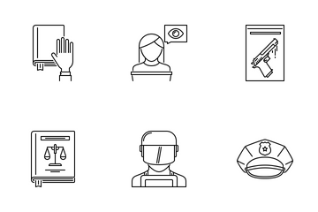 Law Outline Icon Pack