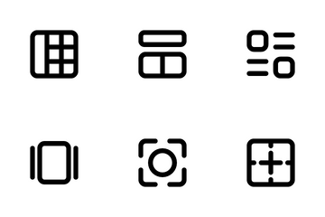 Layout And Alignment Icon Pack