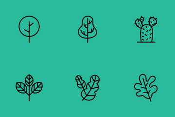 Leaf Tree Icon Pack