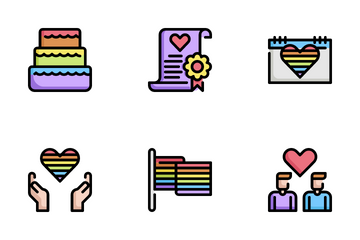LGBT And Decoration Icon Pack