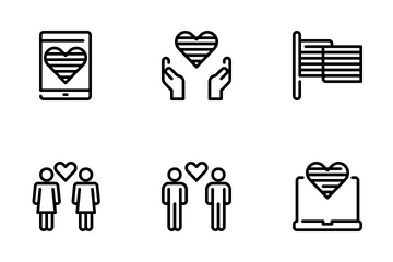 LGBT And Decorations Icon Pack