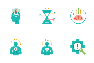Life Skill Flat - Self Improvement Icon Pack