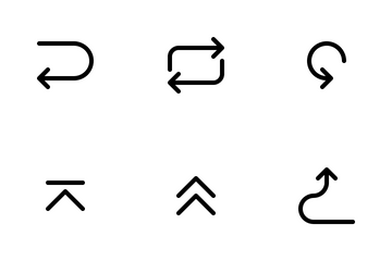 Line - Arrow Icon Pack