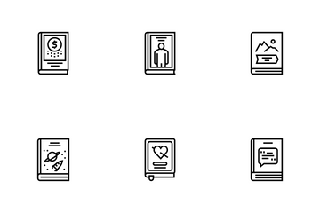 Literary Genres Books Icon Pack