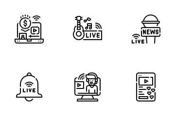 Live And Streaming Icon Pack