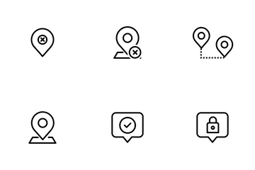 Location And Pin Icon Pack