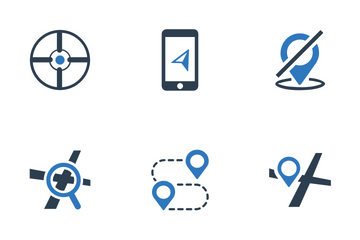 Location & Map (Blue Series) Icon Pack