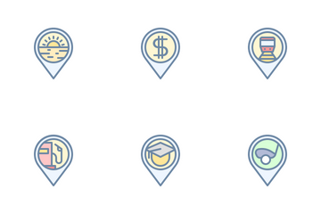 Location Pin (Filled Outline) Icon Pack