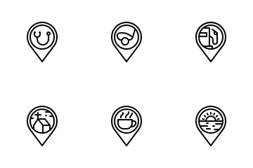 Location Pin (Outline) Icon Pack
