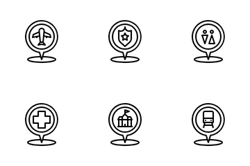 Locations Interests Icon Pack