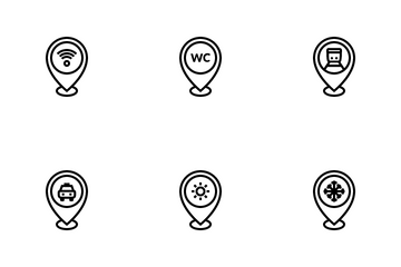 Locations & Spots Icon Pack