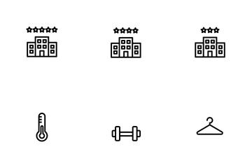 Lodging & Amenities UI Icon Pack