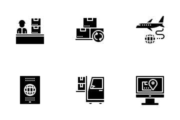 Logistic And Shipping Icon Pack