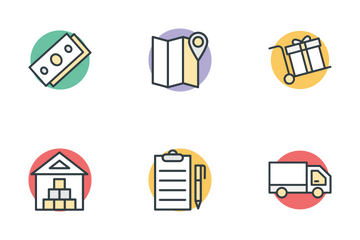 Logistic Delivery Icon Pack