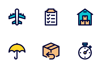 Logistic & Delivery Colour Icon Pack