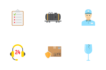 Logistic & Delivery Flat Icons Icon Pack