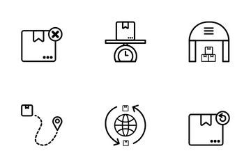 Logistic & Shipping Icon Pack