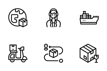 Logistics And Delivery Icon Pack