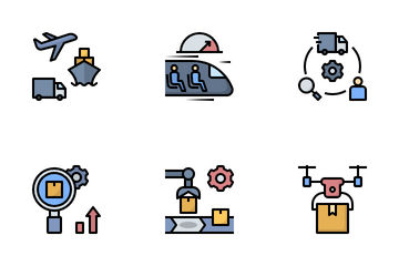 Logistics And Supply Chain Management Icon Pack