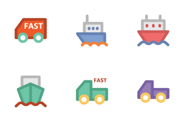 Logistics Delivery 1 Icon Pack
