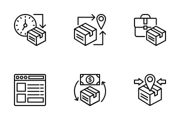 Logistics Delivery 2 Icon Pack