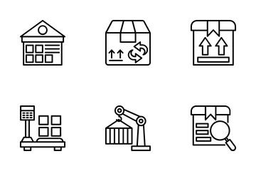 Logistics Delivery 3 Icon Pack