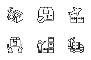 Logistics Delivery 4 Icon Pack
