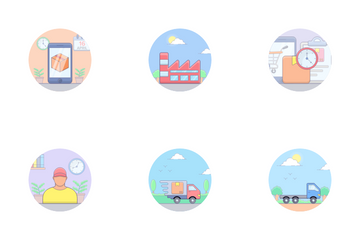 Logistics, Delivery And Shipping Icon Pack
