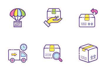 Logistics Delivery Flat Outline Concepts 1 Icon Pack