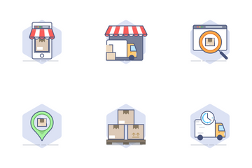 Logistics & E-Commerce Icon Pack