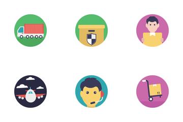 Logistics Flat Icons  Icon Pack