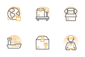 Logistics Shape Icon Pack