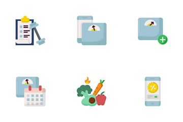 Lose & Gain Weight Icon Pack