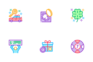 Lottery Gambling Game Icon Pack