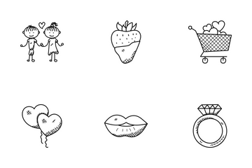 Love And Romance Doodle Icons  Icon Pack