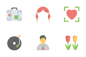 Love And Romance Flat Icons 2 Icon Pack