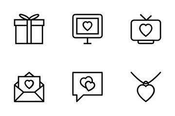 Love And Romance Vector Icons Icon Pack