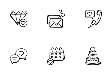 Love And Wedding Icon Pack