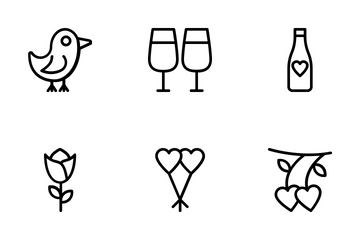 Love And Wedding 6 Icon Pack