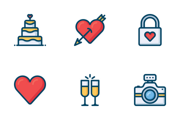 Love And Wedding Icons Icon Pack