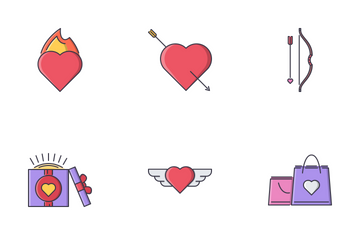 Love Filled Outline Icon Pack