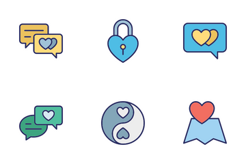 Love Romance And Wedding Icon Pack