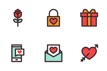 Love&wedding Colour Icon Pack