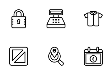 M Commerce And Shopping Icon Pack